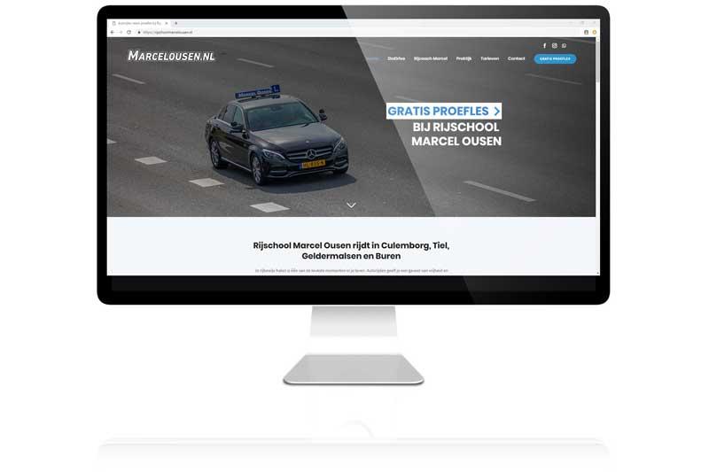 Rijschool marcel Ousen liet diir Aemotion een nieuwe website maken