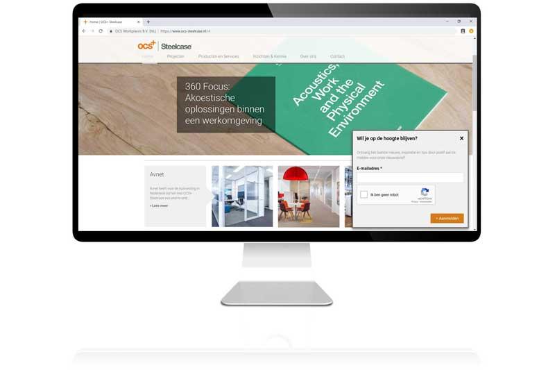 Voor OCS+ Steelcacse ontwikkelde Aemotion een uitgebreide Drupal website vol koppelingen