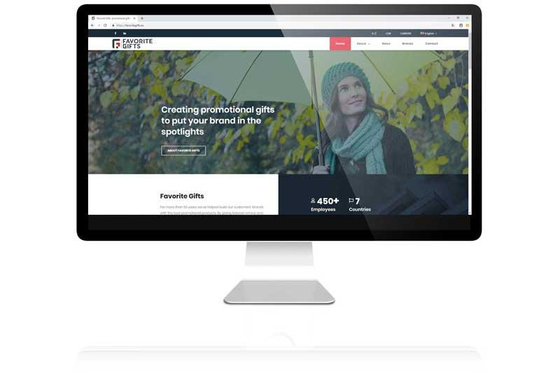 Favorite Gifts uit Tiel liet de corporate website door Aemotion maken. In Wordpress met grafische toevoegingen en meertalig
