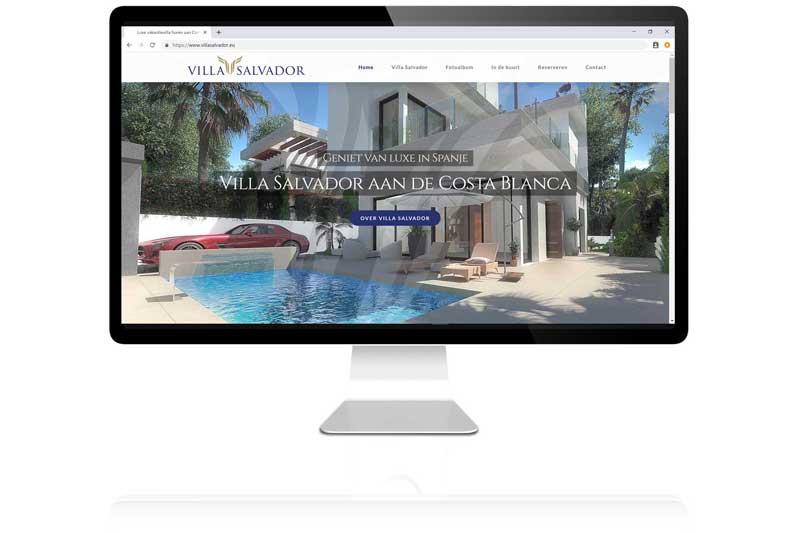 Voor villa salvador maakte Aemotion een overzichtelijke website met SEO, reserveringsformulier en fotografie