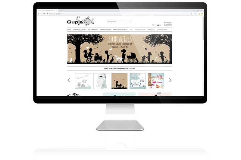 Voor gupje.com ontwikkelde aemotion een webshop in Cs-Cart.