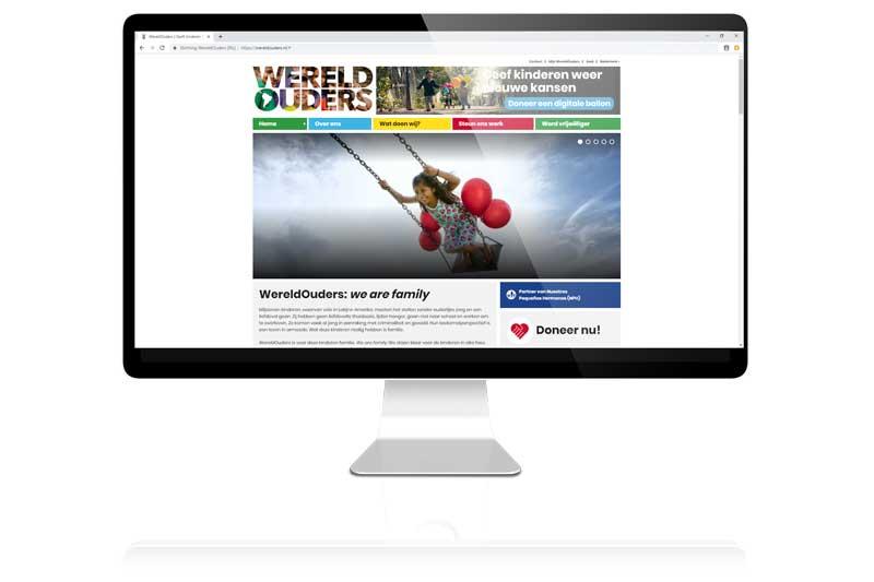 Wereldouders koos voor Aemotion voor haar website en responsive website
